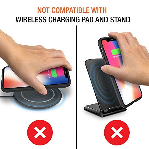 iPhone X Battery Case with Qi Wireless Charging, Trianium 3000mAh [Black] Rechargeable Juice Power Charger Battery Case for iPhone X 10 [Apple Certified Part/Not Support with Wireless Charging Pad] by Trianium (Image #8)
