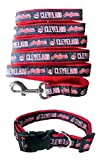 Cleveland Indians Nylon Collar and Matching Leash for Pets (MLB Official by Pets First) Size Large