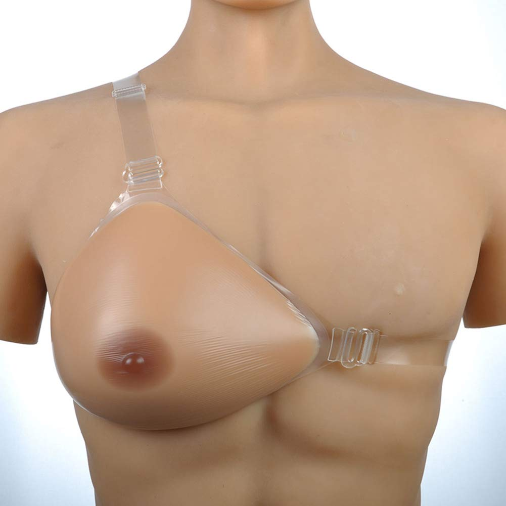 Silicone Breast Form Right/Left Side Single Shoulder with Adjustable Strap for Prosthesis for Mastectomy Patient,2,500G/XL/6.5 * 5.5 * 3.0Inch/Cupd