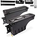 2Pack Lockable Truck Bed Storage Box Toolbox Compatible For Chevy Silverado /Compatible For GMC 2007-2018 Sierra 1500 2500 HD