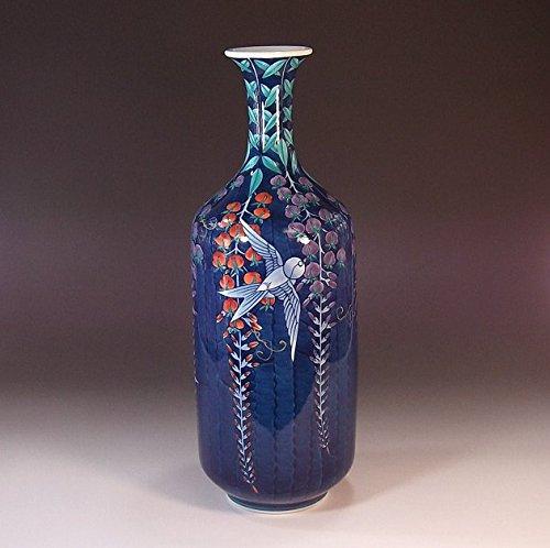 有田焼伊万里焼の陶器花瓶色鍋島様式|贈答品|ギフト|記念品|贈り物|陶芸家 藤井錦彩 B00LWW75N0