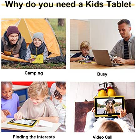 CARRVAS Tablet for Kids, 7inch WiFi & Android 8.1 KidsTablet 1G(RAM)+16G, Pre-Installed Iwawa, Parenting Control Tablet with Educational Games App 51gn52FmozL
