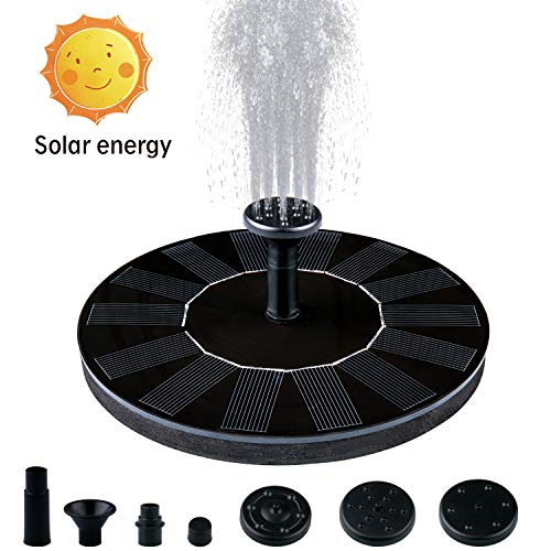 Ezire Solar Fountain Pump, Solar Powered Bird Bath Fountain Pump 1.4W Solar Water Fountain Panel Kit Outdoor Birdbath Water Fountain Pump for Pond, Pool, Patio and Garden Decoration by Ezire