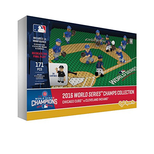 OYO 2016 WORLD SERIES CHAMPS COLLECTION CHICAGO CUBS v CLEVELAND INDIANS 10TH INNING SET (Last Time Cubs Were In World Series)