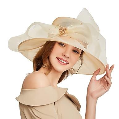 bf18e1e469af2 Go Mai Accessories Women s Organza Kentucky Derby Hat Fashion New Ladies  Multicolor Elegant Personality Sun Hat
