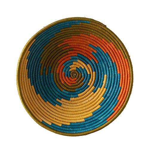 The Crabby Nook African Basket Sunrise Swirl Natural Grass Fruit or Display Hand Woven Art Home Decor  sc 1 st  Amazon.com & African Dinnerware: Amazon.com
