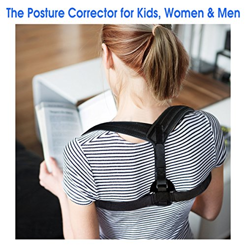 Posture Corrector for Kids, Women & Men. Improved version - Tidy Design - Effective, Adjustable & Comfortable Clavicle Support Brace. Medical Device for Upper Back Pain, Shoulder Pain - Sales Lack Friday