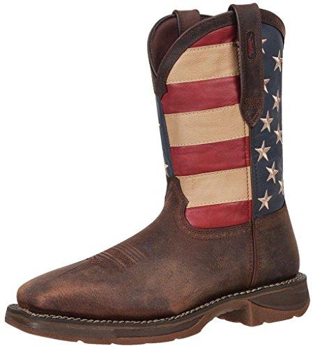 Flag Mens Brown W Durango DB020 Steel Western Toe American Square 5 7 FEwxw