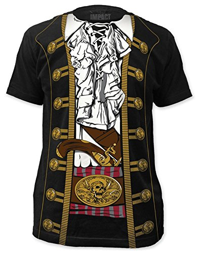 Costumes Tee (Impact Pirate Prince Mens Costume Tee (Medium))