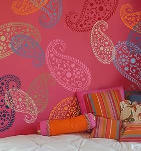 Stencil Vintage Paisley LG - Reusable stencils for walls and fabrics - diy home decor