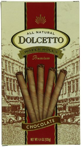Dolcetto Wafer Rolls, Chocolate, 4.4-Ounce (Pack of 12)