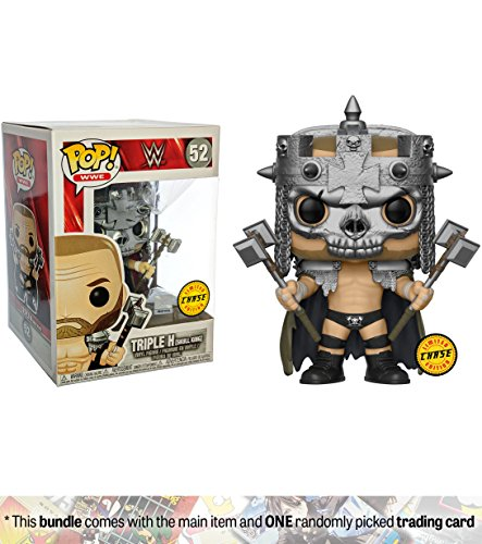 Funko Triple H [Skull King] (Chase Edition): x POP! WWE Vinyl Figure + 1 Official WWE Trading Card Bundle [#052 / 30987] by Funko