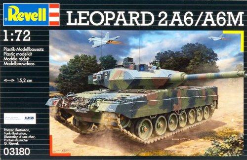 Revell Modellbausatz 03180 - Leopard 2 A6M im Maßstab 1:72