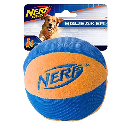 Nerf Dog Large UltraPlush Trackshot Ball Dog Toy, Orange/Blue