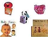 Children's Gift Bundle - Ages 0-2 [5 Piece] Includes: Giggling Elmo Hot Tomato Game, Circo Infant Girls Swim Diaper Bikini Bottom Pink Butterfly 18 Months 22-25 lbs, Kellytoy Panda Bear Photo Frame