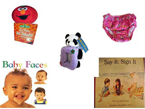 Children's Gift Bundle - Ages 0-2 [5 Piece] Includes: Giggling Elmo Hot Tomato Game, Circo Infant Girls Swim Diaper Bikini Bottom Pink Butterfly 18 Months 22-25 lbs, Kellytoy Panda Bear Photo Frame by Secure-Order-Marketplace Gift Bundles