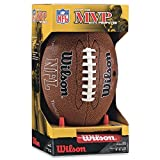 Wilson NFL MVP Junior Football with Pump and Tee, Brown thumbnail