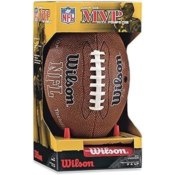 Wilson NFL MVP Junior Football with Pump and Tee, Brown