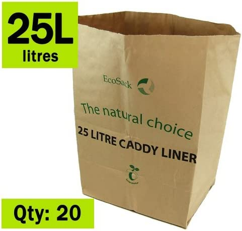 25 litros x 20 bolsas biodegradables para papel de cocina de ...