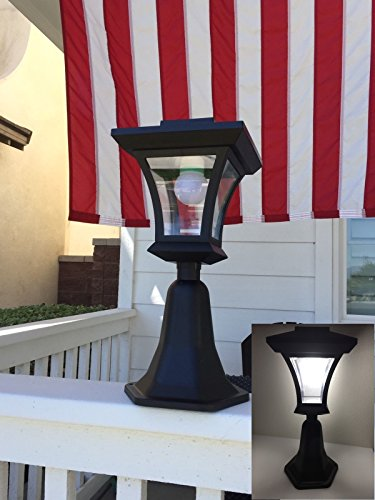 - Outdoor LED Solar Powered Fence Gate Post Mount Light Garden Courtyard Solar Lamp Lighting