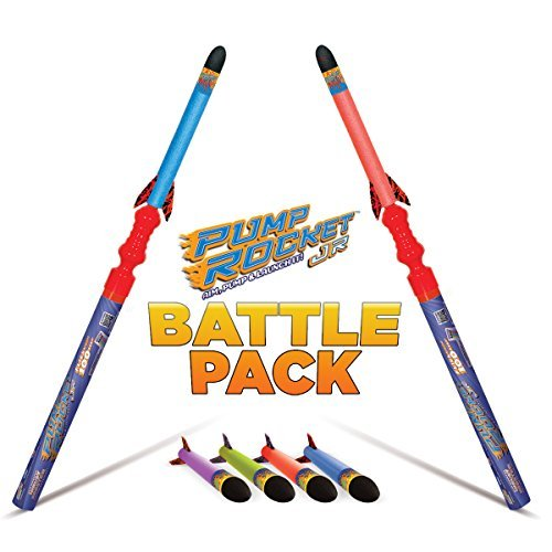 Geospace Pump Rocket JR Combo Battle Pack (includes 2 Launchers + 6 JR Rockets) (Replacement Rocket Pump)