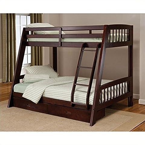 Hillsdale Rockdale Twin over Full Bunk Bed Set in Espresso - Footboard Hillsdale House