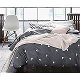 GAW Home Fashion Cotton 4-Piece Duvet Cover Bedding Set, King/California King,Quilt Cover(220*240Cm*1),Sheet(245*265Cm*1),Pillowcase(48*74Cm*2)