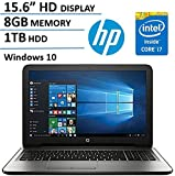 HP Pavilion 15-AY163NR 15.6-inch Laptop (Intel Core i7-7500U 2.7GHz, 8GB RAM, 1TB 5400 rpm SATA, Windows 10)