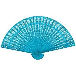 YJYdada Vintage Bamboo Folding Hand Held Flower Fan Chinese Dance Party Gifts Bamboo Fan (J)