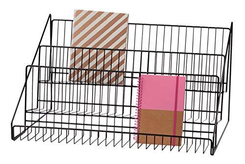 "SSWBasics 3-Tier Black Wire Countertop Rack - 12¾""H x 23½""W x 14"