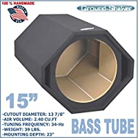 15 SINGLE VENTED SLOT PORTED SUB BOX BASS TUBE SUBWOOFER ENCLOSURE