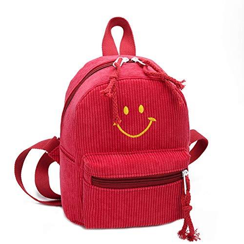 Cinsanong Womens Bags Sale! Fashion Smiley Parent-Child School Bag Cute Elegant Design Designer Backpack
