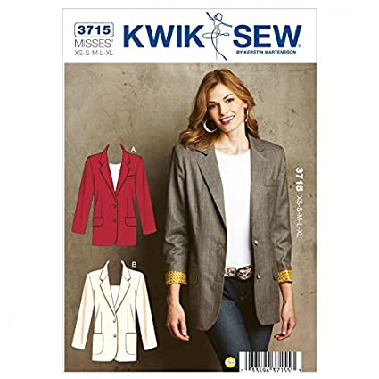 Amazon.com: Kwik Sew Ladies Sewing Pattern 3715 Lined Blazer Jackets