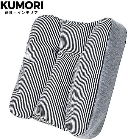 クモリ(Kumori) 多機能 クッション パイプ&ラテックス充填 背もたれ チェアパッド 座面クッション 座布団 ごろ寝枕 高さ調整 丸洗いOK (42X42X8cm, ブルー)