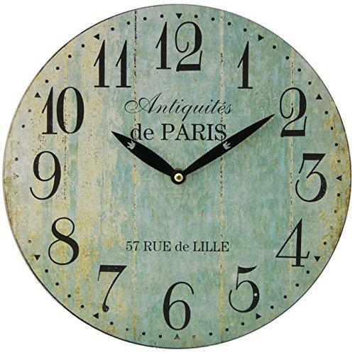 Hometime Mdf Round Wall Clock Roman Dial Multi Coloured