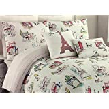 "Cynthia Rowley ""Parisian"" 5-Pc Full/Queen Reversible Comforter Set 