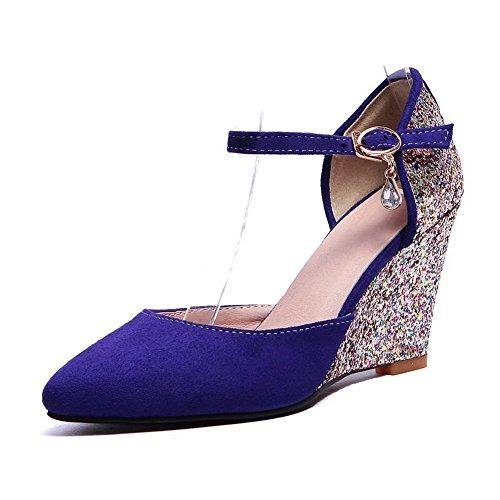 Balamasa Meisjes Pailletten Hoge Hakken Schapenvacht Pumps-schoenen Darkpurple
