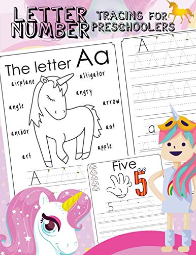 Letter Number Tracing For Preschoolers: Alphabets handwriting practice with number 0-9 tracing practice and 27 cute…