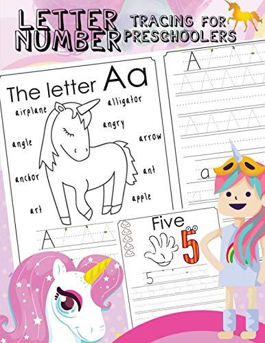 Letter Number Tracing For Preschoolers: Alphabets handwriting practice