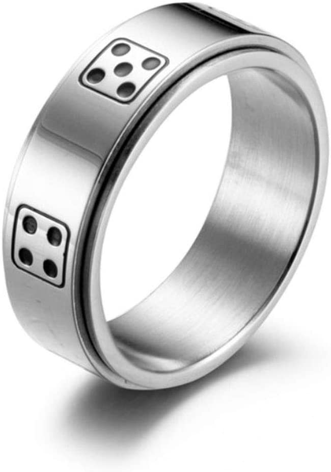 D6 Spinner Ring for Dungeons /& Dragons Black, 6