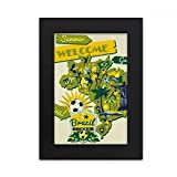 DIYthinker Welcom Brazil Summer Soccer Desktop Photo Frame Picture Black Art Painting 5x7 inch