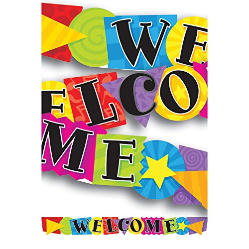 Trend Enterprises Inc. Welcome Shapes Quotable Expressions Banner 10'