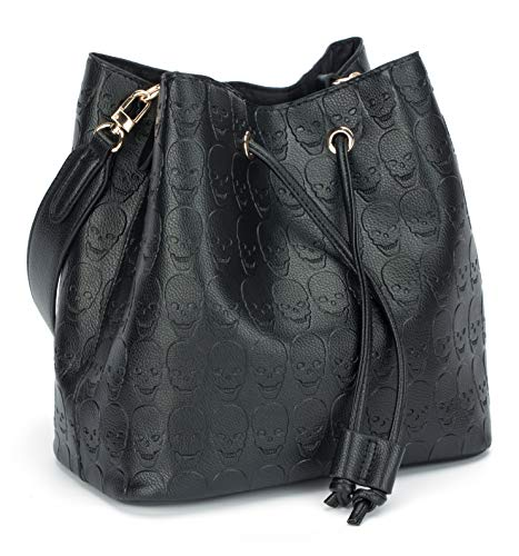 Womens Skull Hobo Tote Bag Chain Shoulder Bag Gothic Handbag ()