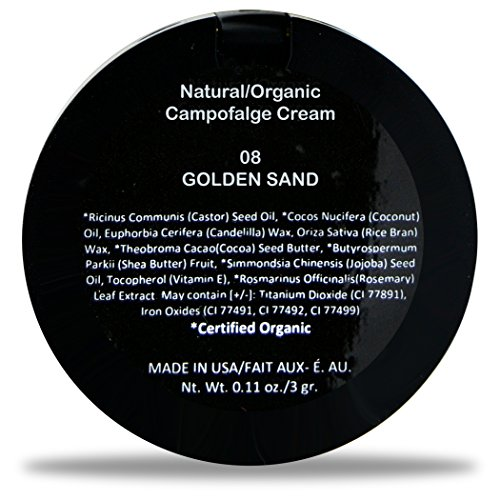 Best Organic 100% Natural Non-GMO Vegan Concealer for Face, Made in USA by BaeBlu, Golden Sand