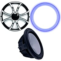 Wet Sounds Revo 12 Subwoofer, Grill, RGB LED Ring - Black Subwoofer & Black Grill With Steel Inserts - 4 Ohm