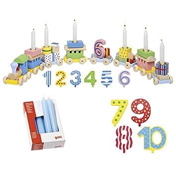 Die LuLuGoS Goki Tren con Números de Cumpleaños, 1 - 10 ...