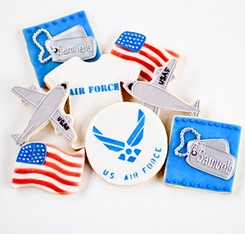 ½ Dz. Air Force Cookies Military, USAF, Favors, Retirement and More