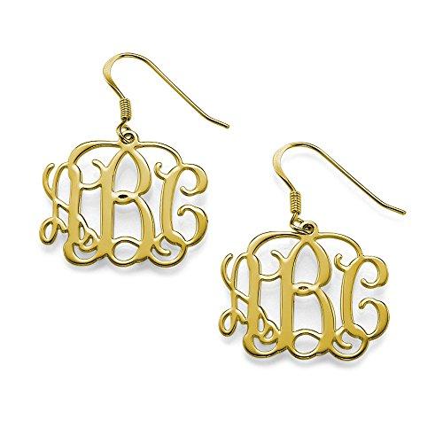 (Monogram Earrings - Custom Made with Any Initial!)