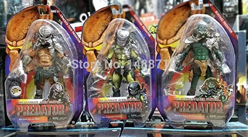 Sci-Fi Film Predator Series 13 Scavage Renegade Cracked Tusk Predator NECA 18CM Action Figure Toys Box