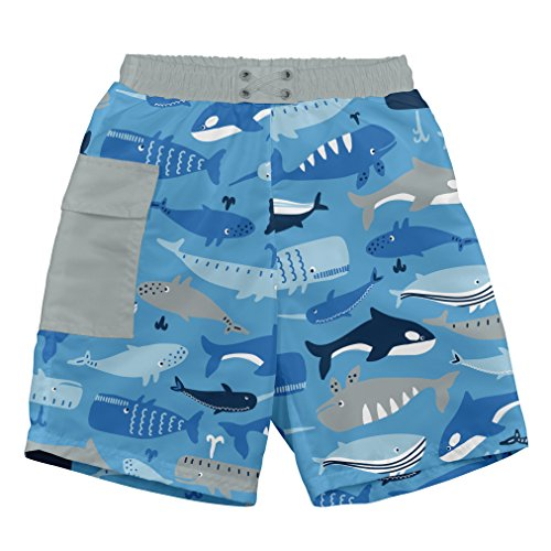 3T Blue Whale League i play Boys Pull-up Reusable Swim Diaper